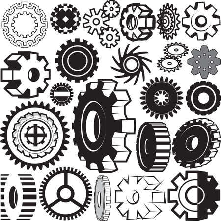 Gear Collection Stock Vector - 13453569