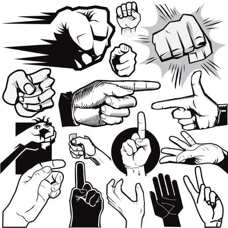 Hand Collection Stock Vector - 13453574