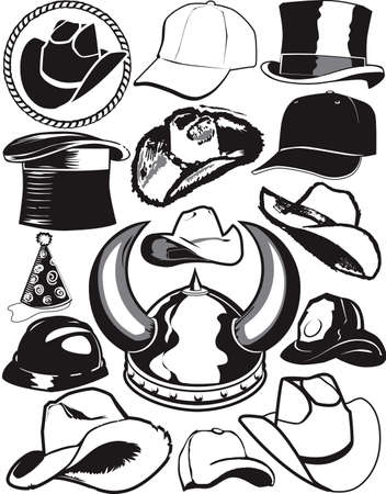 Hat Collection Stock Vector - 13453605