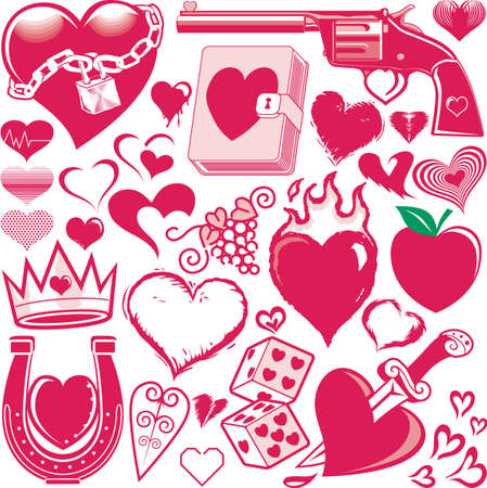 Heart Collection Stock Vector - 13453597