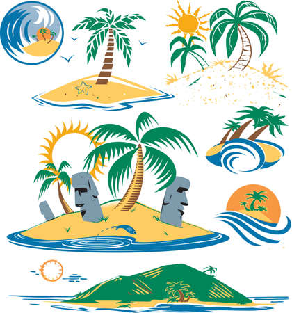 Seven Islands Illustration