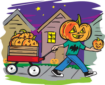 Jack O  Lantern Delivery Illusztráció