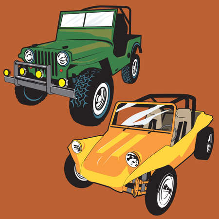 jeep: Jeep y Buggy Vectores