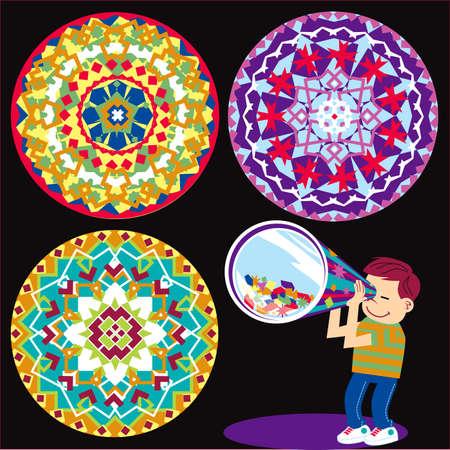 Kaleidoscope Kid Ilustração