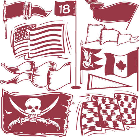Flag Collection Vector