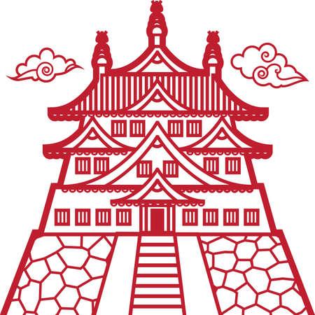 Eastern Castle Illustration