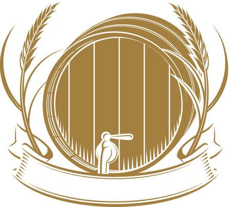 Tarwe Barrel Stock Illustratie