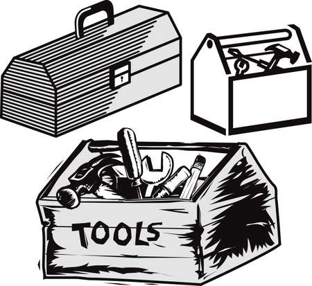 Toolboxes Vector