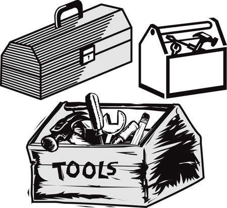 Toolboxes Иллюстрация