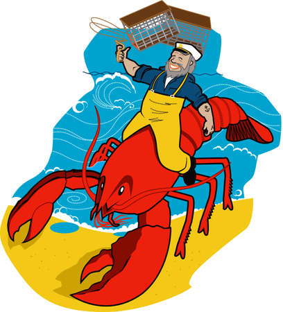 Lobster Sea Captain Vector