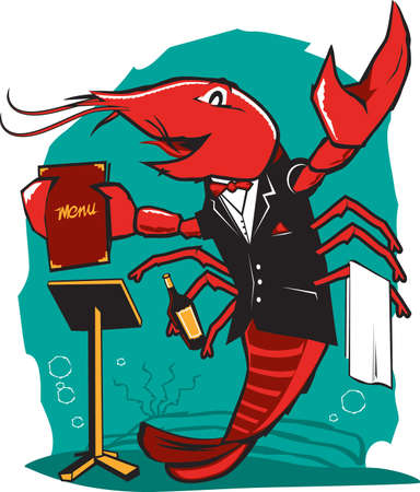 Lobster Maitre D Vector