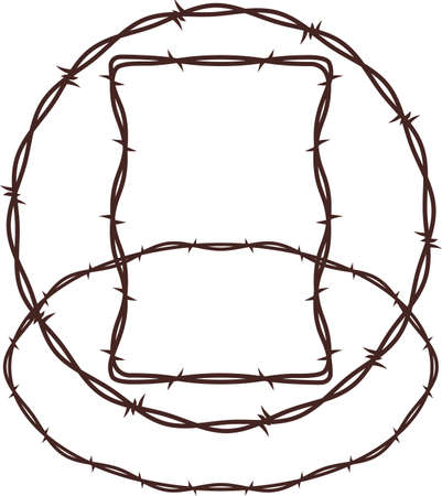 round: Barbed Wire Frames