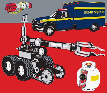 Bomb Squad Stock Illustratie