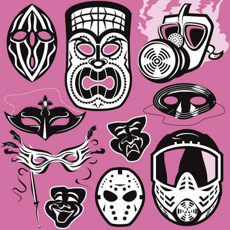マスク コレクション  イラスト・ベクター素材