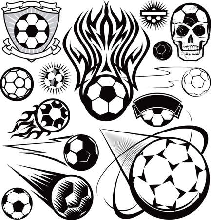 Soccer Ball Collection Stock Vector - 17271965