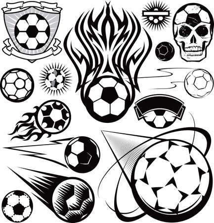 Soccer Ball Collection Stock Vector - 17271965