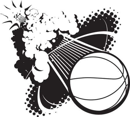 ソニック ブームのバスケット ボール  イラスト・ベクター素材