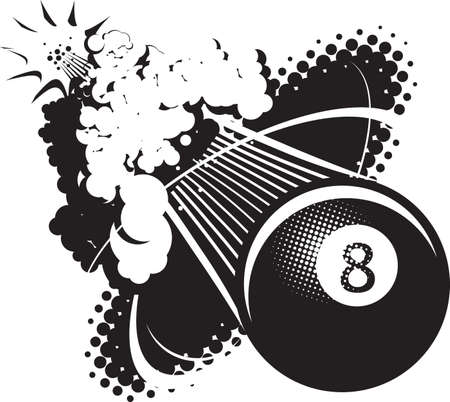 bola ocho: Sonic Boom Eight Ball Vectores