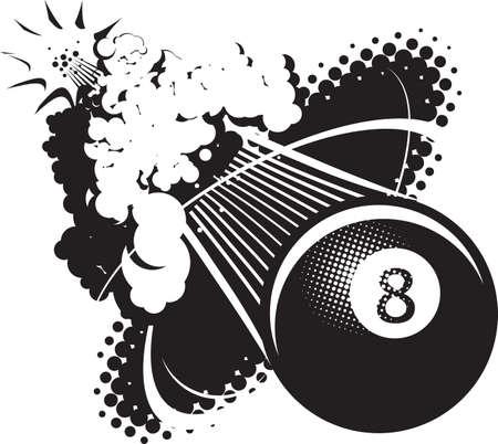 eight ball: Sonic Boom Eight Ball Illustration