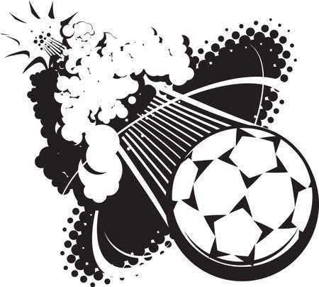 futbol soccer: Sonic Boom Soccer Ball Illustration