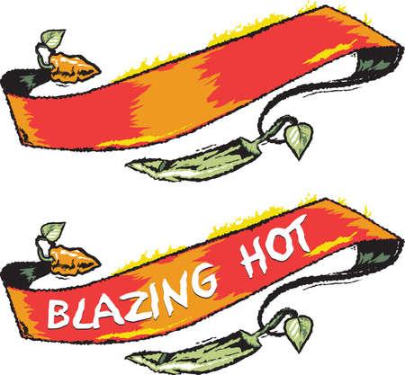habanero: Chile Pepper Banner Illustration