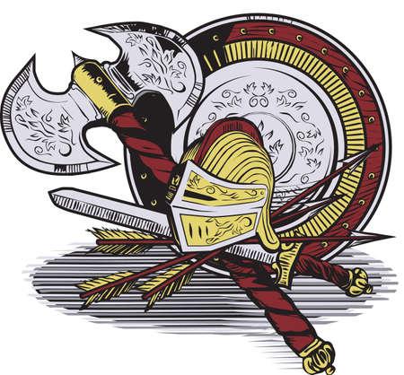 Gladiator Gear Illustration