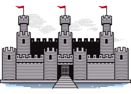 Battlements Stock Vector - 17443031