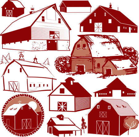 agriculture icon: Barn Collection