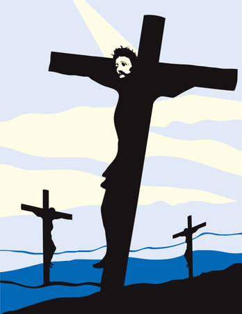 Christ on the Cross Vector