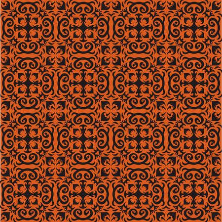 halloween pattern: Bohemian Halloween Pattern Illustration