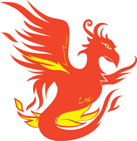 Fiery Phoenix Stock Vector - 17443071