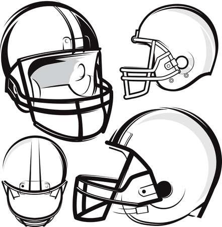 Football Helmet Set Stock Vector - 17443021