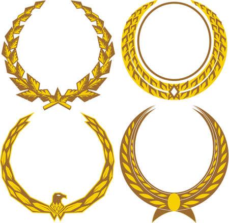 Golden Laurels Illustration