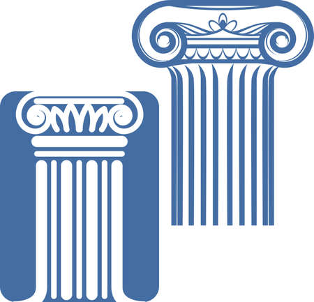 pilastri: Colonne ioniche