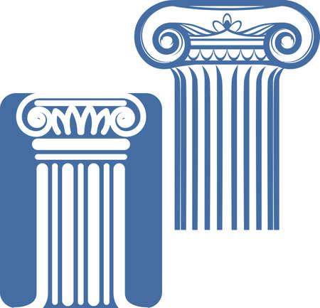 Ionic Columns Stock Vector - 17443024