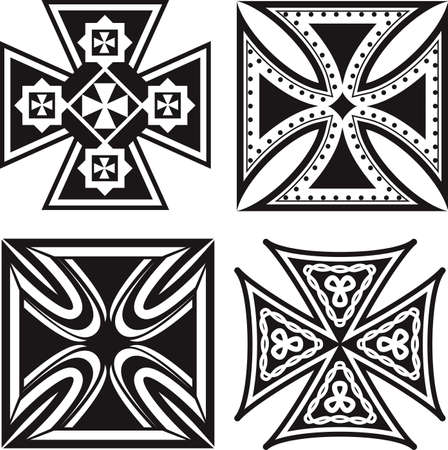 철 십자가 컬렉션 스톡 콘텐츠 - 17443070
