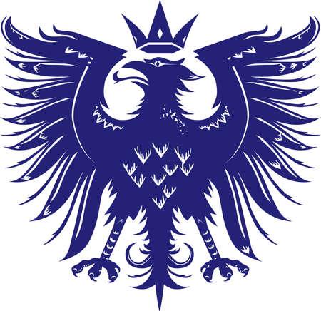 Middeleeuwse Eagle Stock Illustratie