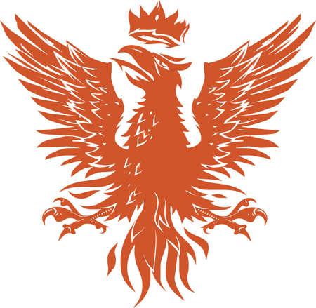 Middeleeuwse Phoenix Stockfoto - 17442974