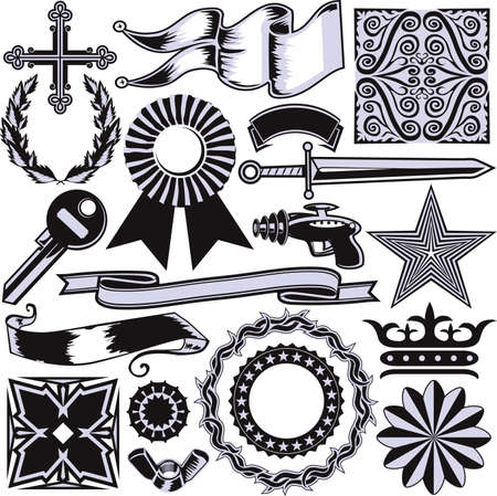 seal gun: Design Element Collection Illustration
