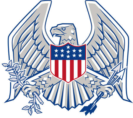 Patriottisch Eagle Stock Illustratie