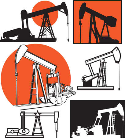 pumpjack: Pumpjack Collection Illustration