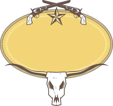 Western Ranch Label Vector