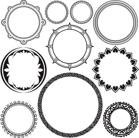 Rings and Circle Designs Vector