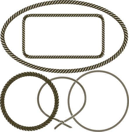 oval: Rope Collection Illustration