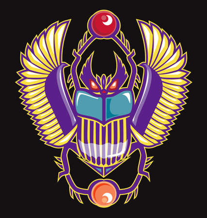 Colorful Scarab 向量圖像