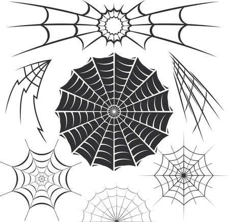 round: Spider Web Collection Illustration