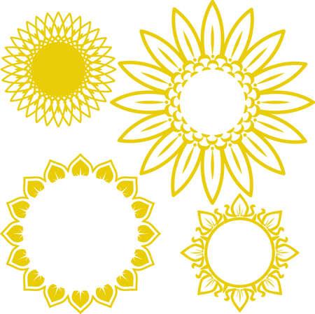 Sunflower Icons Vettoriali