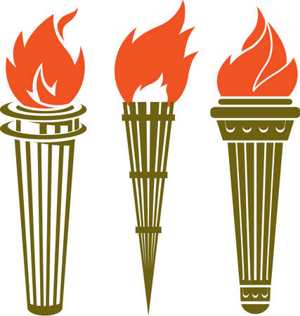 Torch Icons Vector