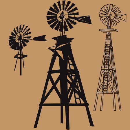 Windmill Set Ilustrace