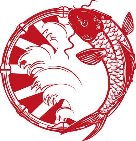 Koi Emblem Stock Vector - 17443069
